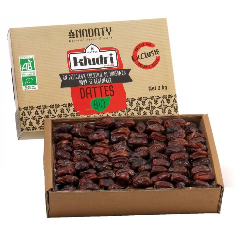 Dátiles orgánicos Khudri de Arabia